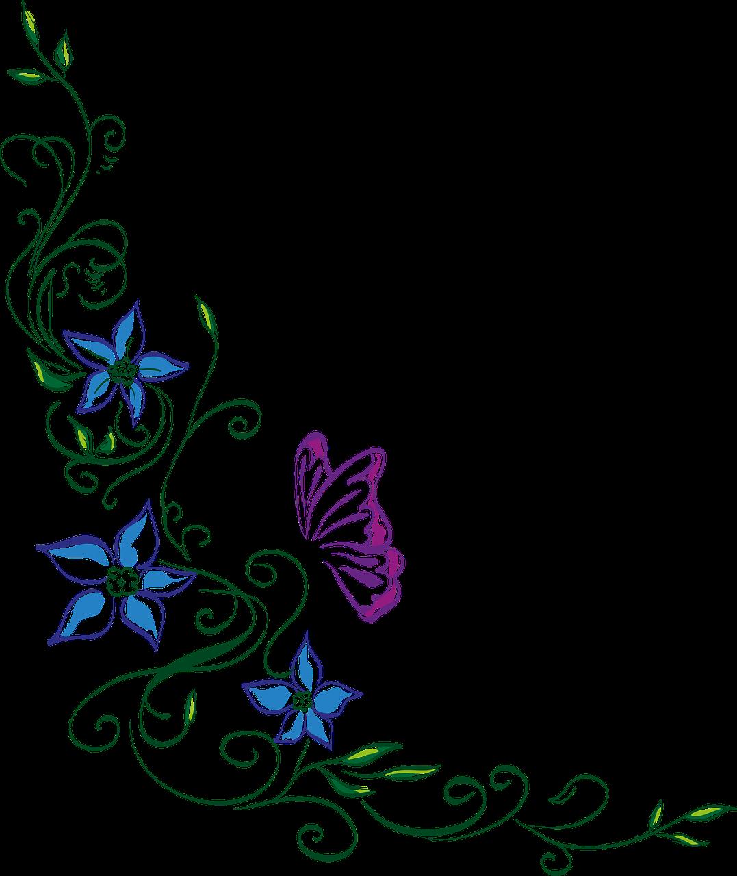 Gėlių ornamentas,gėlė,drugelis,gamta,vasara - nemokamos nuotraukos. Mediakatalogas.lt