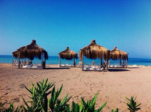 jūra, papludimys, kraštovaizdis, vasara, Turkija, atostogos, paplūdimys Viduržemio jūroje