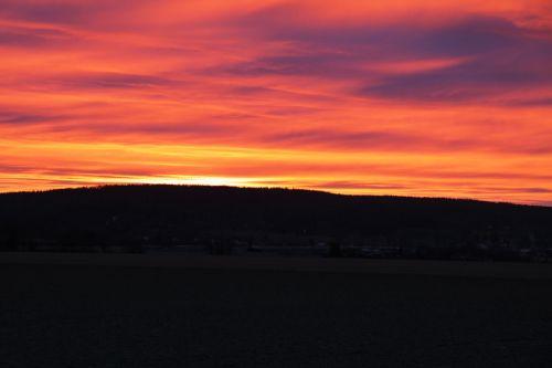 saulėtekis, saulėlydis, rytas, oranžinė, tamsi, dangus, saulė, kraštovaizdis, saulėtekis