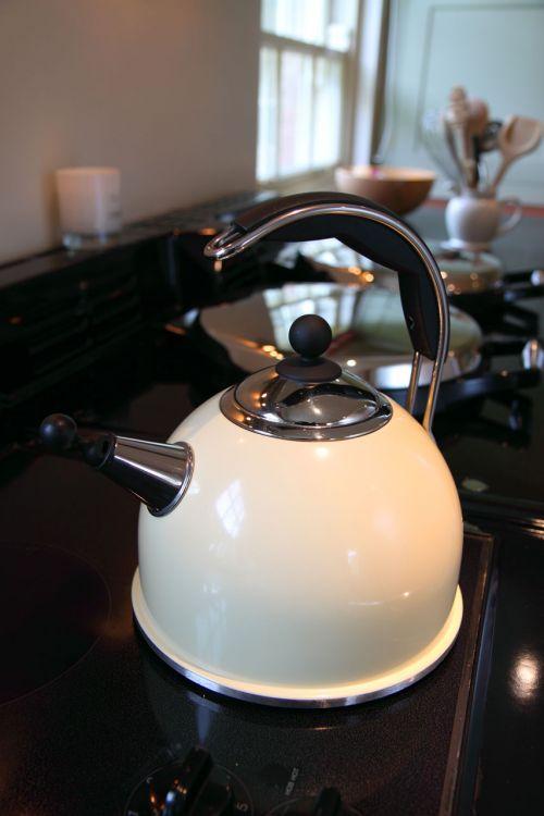 gėrimas, juoda, gerti, karštas, virdulys, virtuvė, blizgantis, nerūdijantis, plienas, arbata, tradicinis, balta, tradicinis virdulys