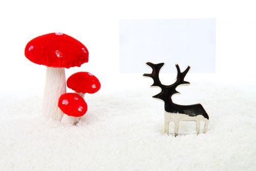 verslas, kortelė, metalas, grybai, šventė, Kalėdos, apdaila, šventė, izoliuotas, linksmas, ornamentas, raudona, sniegas, balta, žiema, xmas, šiaurės elniai, šiaurės elnių gėlių dekoravimas