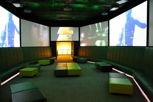 baras, kėdė, klubas, Clubbing, tamsi, dizainas, tuščia, patalpose, patalpose, viduje, interjeras, lobis, holas, šiuolaikiška, naktis, vakarėlis, kambarys, sėdynė, tuščias klubo interjeras