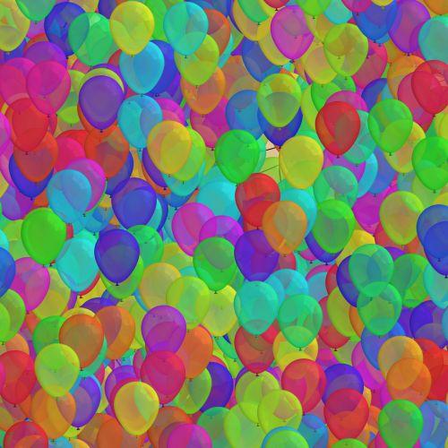 1000, balionai, fonas, spalva, skaidrus, fonas, 1000 balionų