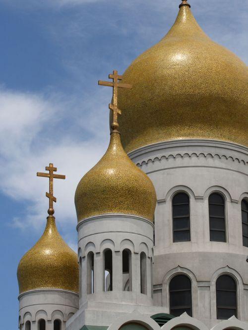 kupolas, kupolas, katedra, rusų, San, francisco, Kalifornija, rusų katedros kupolai