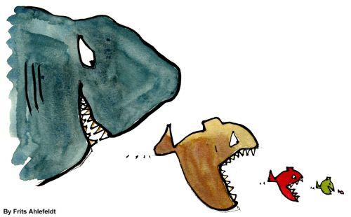 hierarchija, grupė, valgyti, žuvis, žuvys, dominuoti, plėšrūnas, žuvis valgyti žuvį valgyti ...