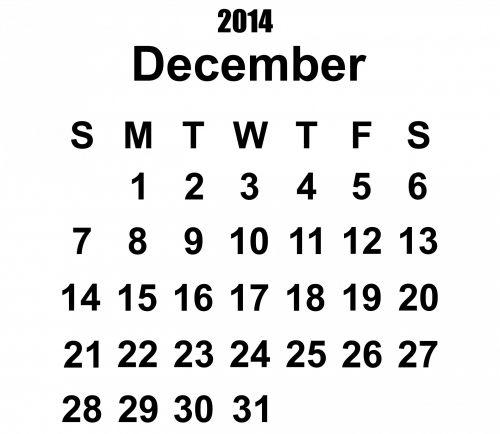 2014 m. Kalendorius & nbsp, gruodžio mėn ., 2014 & nbsp, kalendorius, 2014, gruodžio mėn ., kalendorius, šablonas, metai, data, datas, dienoraštis, planuotojas, mėnuo, juoda, balta, fonas, Iliustracijos, 2014 m. Gruodžio mėn. Šablonas
