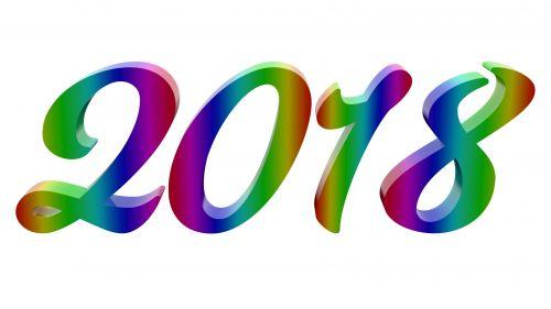 2018, 2k18, nauji & nbsp, metai, laimingas, skaitmenys, spalvinga, numeris, blizgus, metalinis, rgb, veidrodis, gradientas, pavadinimas, iliustracija, rastras, 3d, padengti, 8k, rezoliucija, 2018 m. Blizgūs skaitmenys
