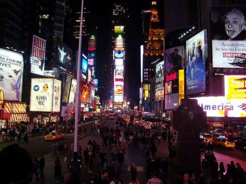 miestas, gatvė, automobiliai, žmonės, šviesa, lentos, laikai, kvadratas, pastatas, Turistas, kartus kvadratas