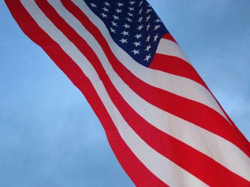 amerikietis, vėliava, dangus, žvaigždės, juostelės, simbolis, žvaigždės ir juostos