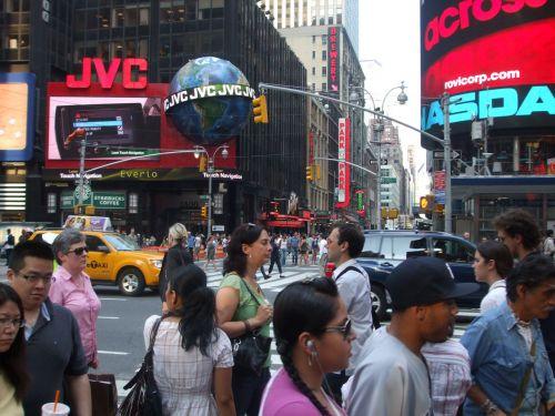 laikai, kvadratas, naujas, York, Manhatanas, midtown, 42nd, gatvė, teatras, nyc kartus kvadratas 2