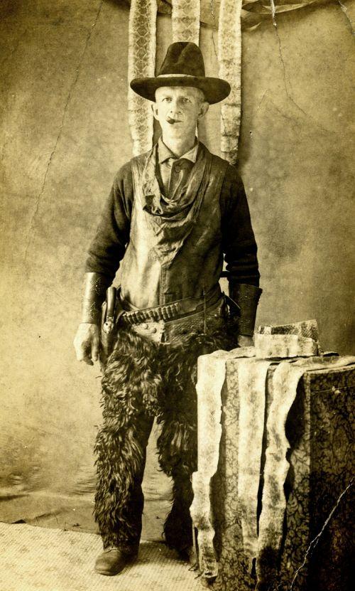 gyvatė, medžiotojas, vyras, kietas, kaubojus, vintage, kryžiai, grubus, atvirukas, gyvatės medžiotojas