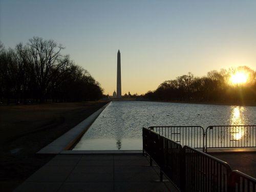 memorialai, aušra, saulės šviesa, atspindintis, baseinas, Aušra