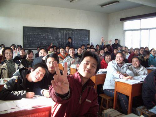 mokykla, klasė, klasė, studentai, klasė