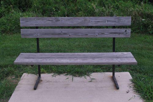stendas, medinis, poilsis, sėdėti, suolas