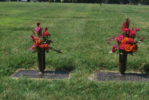 gėlės, kapas, kapas, urn, kapinės, laidojimas, žemė, kapas
