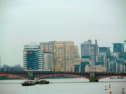 Londonas, pastatai, tiltas, Anglija, Miestas, miestas, miestas