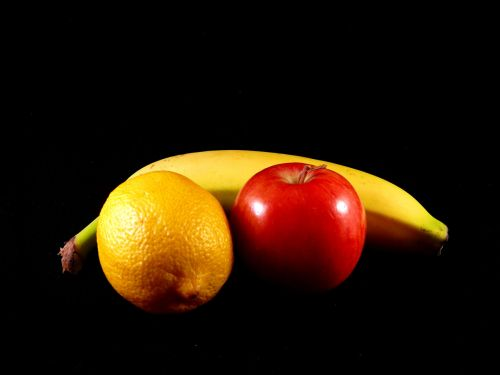 vaisiai, sveikas, sveikata, obuolys, citrina, bananas, užkandis, vaisiai