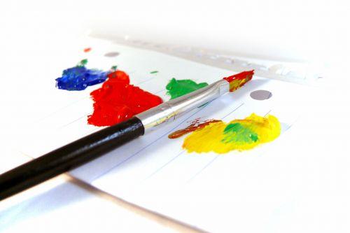 paveikslai, dažyti, menas, dažyti & nbsp, teptuku, popierius, spalvinga, paveikslai