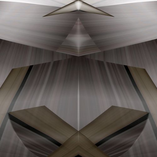 3d, piešimas, pilka, formos, abstraktus, Kaleidoskopas, menas, veidrodis, geometrinis, formos, linijos, 3d formos