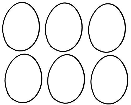 Velykos, kiaušinis, vištiena, kontūrai, linija, piešimas, šablonas, 6 kiaušinių kontūrai