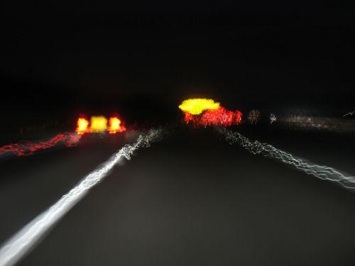greitkelis, greitkelis, greitkelis, eismas, naktis, žibintai, greitkelis naktį