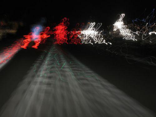 greitkelis, greitkelis, greitkelis, eismas, naktis, žibintai, zuikis, zuikiai, greitkelis naktį