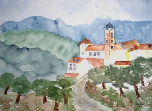 abatija,dažymas,vaizdas,menas,dažyti,spalva,meniškai,paveikslų tapyba,menininkai,kompozicija,kūrybiškumas,meno kūriniai,amatų,drobė,dailininkas,kilniai,grafinis,kalnai,kraštovaizdis