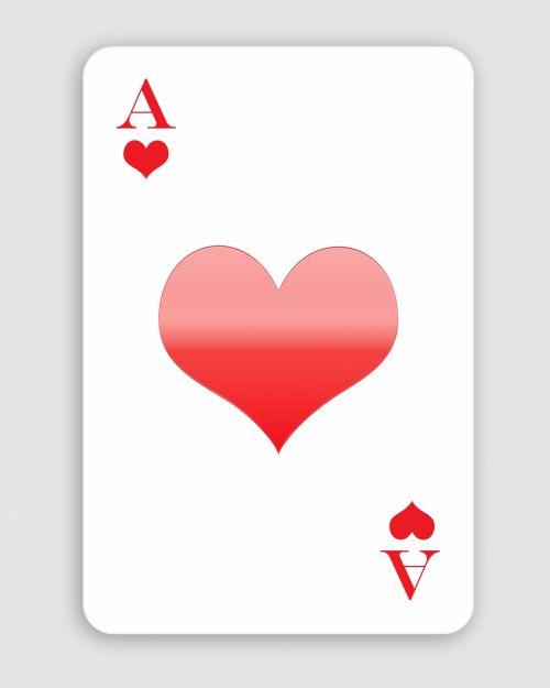 ace, širdis, ace & nbsp, širdis, raudona, balta, žaisti & nbsp, kortelę, kortelė, denio, menas, iliustracija, Scrapbooking, Laisvas, viešasis & nbsp, domenas, širdies ace