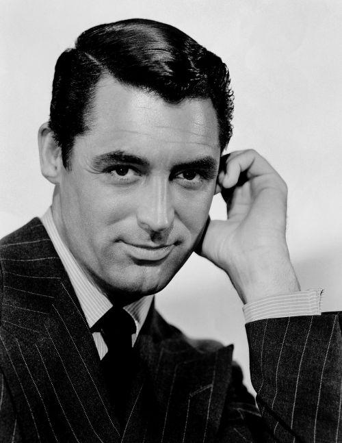 aktorius,vyras,kino aktorius,Cary grant,1941,juoda ir balta,nusiskuto,pinstripe,kostiumas,verslininkas