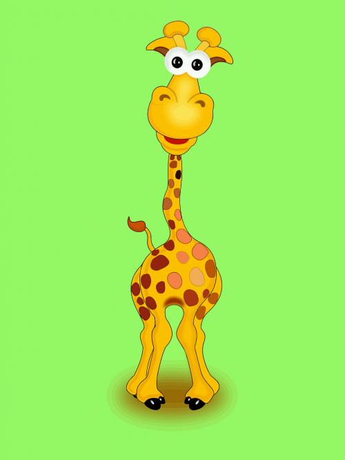afrika,gyvūnas,animacinis filmas,žirafa,laukinė gamta,nemokama vektorinė grafika