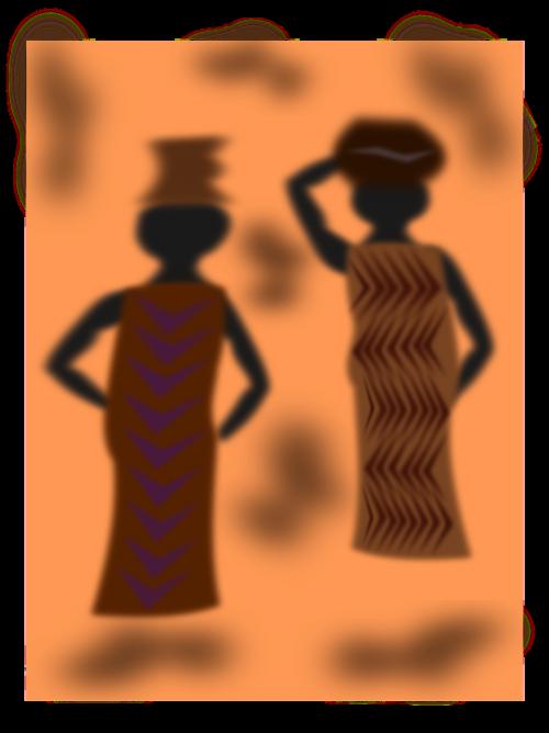 afrika,egyptian,moteris,vežti,nemokama vektorinė grafika