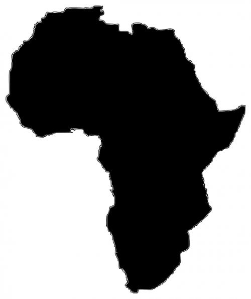afrika,žemynas,geografija,žemėlapis,nemokama vektorinė grafika