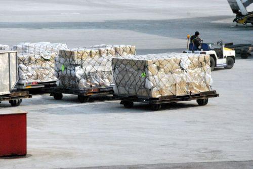 kroviniai, oras, paketas, dėžės, kroviniai, oro transportas