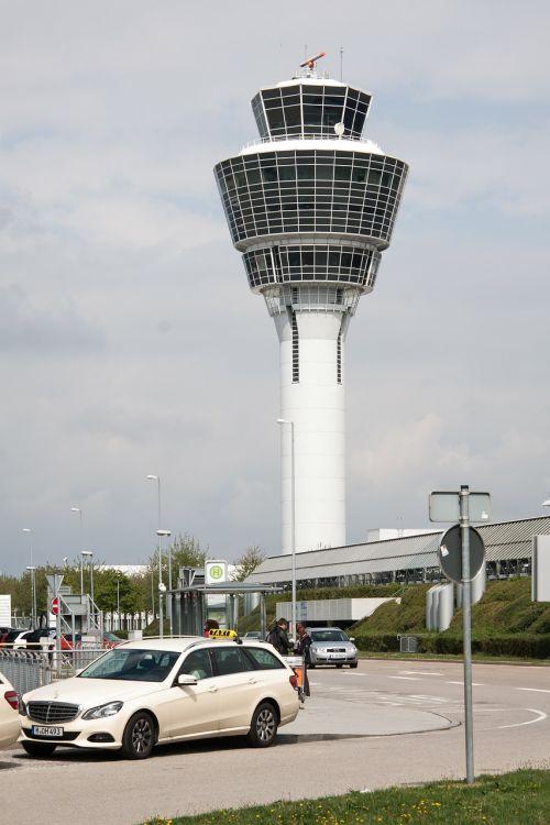 oro uostas,tarptautinis,Munich,architektūra,pastatas,transportas,kontrolės bokštas,bokštas,oro stebėjimas,atc unit,oro eismo kontrolė