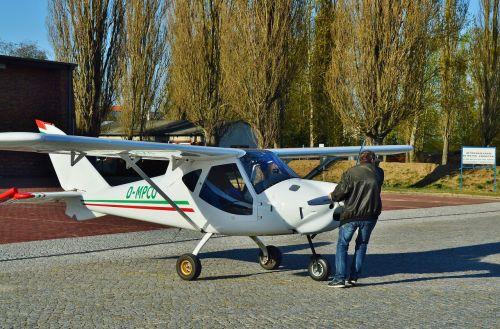 oro uostas, microlight, patikrinti, pozicija, pradinė pozicija, aerodromas, oro uostas, brandenburg, Vokietija