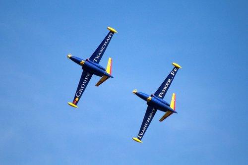 oro šou, duetas, orlaivių, susitikimo parką, oro demonstravimas, skrydis, oro uostas, aviacijos, oro bazė, akrobatinio skraidymo, skristi
