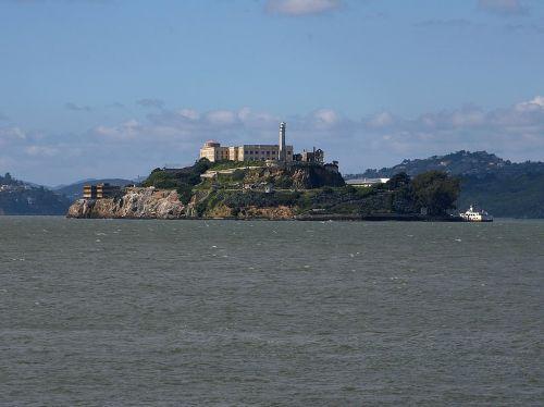 alcatraz,kalėjimas,sala,jūra,miestas,San Franciskas,san franzisko,Kalifornija,usa