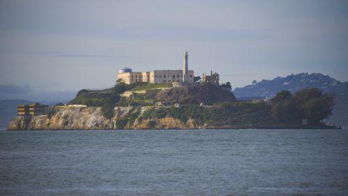 alcatraz, San & nbsp, francisco, sala, vandenynas, kalėjimas, alcatraz sala