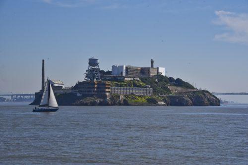 vaizdas, alcatraz, San & nbsp, francisco, burlaivis, kelionė, kelionė, kalėjimas, turai, ekskursijos, alcatraz sala