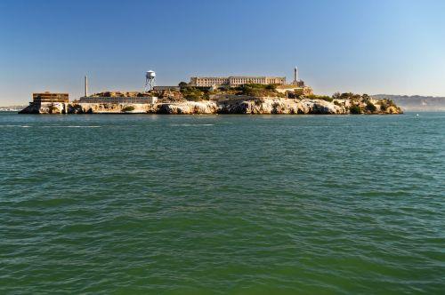 alcatraz sala,alcatraz,sala,San,francisco,amerikietis,kalėjimas,pastatas,vanduo,kranto,orientyras,kalinimo įstaiga