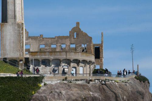 alcatraz, Grunge, architektūra, kalėjimas, įkalinimas, kalinimo įstaiga, San & nbsp, francisco, Rokas, alcatraz salos architektūra