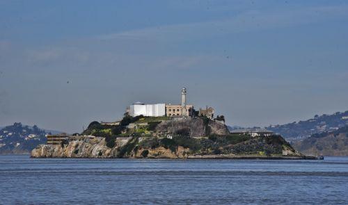 alcatraz, San & nbsp, francisco, sala, pastatas, ekskursijos, kelionė, Kalifornija, kelionė, kalėjimas, Alcatraz sala užpakalinėje dalyje