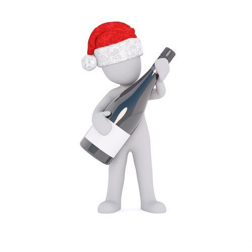 alkoholis,alkoholikai,alkoholinis gėrimas,alkoholinis,butelis,vynas,putojantis vynas,rotkäppchen,girtas,laikyti,sulaikymas,Kalėdos