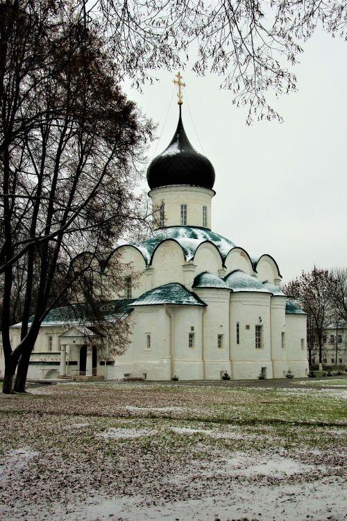 aleksandrovsko sloboda,Aleksandras,bažnyčia,šventykla,sniegas,pirmas sniegas,bila tserkva,Rusija,architektūra,kraštovaizdis