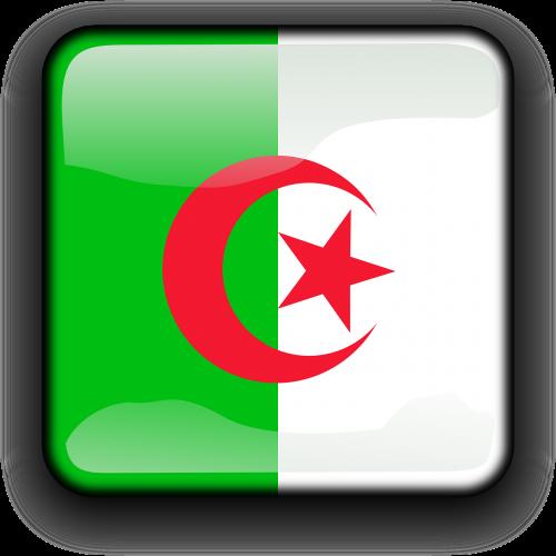 Algeria,vėliava,Šalis,Tautybė,kvadratas,mygtukas,blizgus,nemokama vektorinė grafika