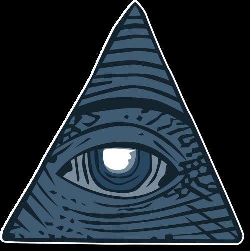 visi matantys akis,doleris,sąmokslo teorija,Illuminati,masoninis,akis,simbolis,apvaizdos akis,trikampis,Dievo akys,mokinys,sąmokslas,nemokama vektorinė grafika