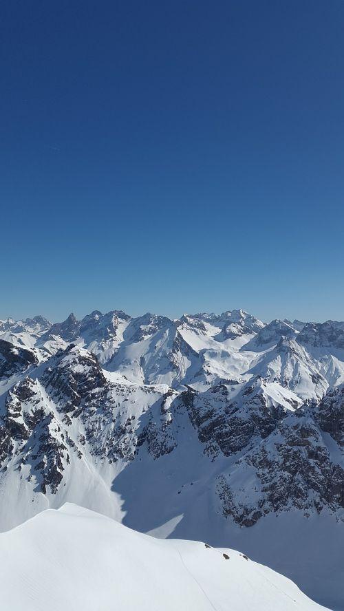 Allgäu,Alpių,žiema,sniegas,panorama,Allgäu Alpės,kalnai,oberstdorf,vaizdas