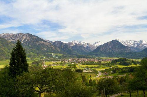 Allgäu Alpės,Allgäu,oberstdorf,kalnai,Alpių,kalnas,panorama,kraštovaizdis
