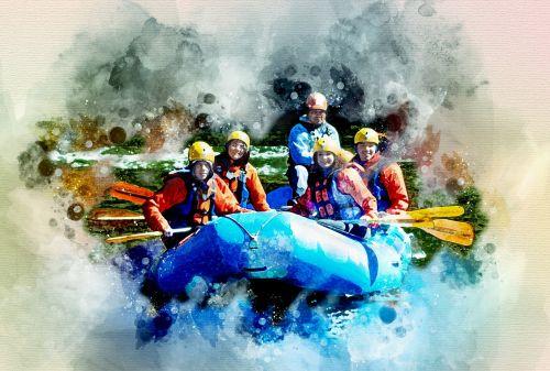 lydinys,valtis,plaukimas upe,sportininkai,turizmas,ekstremalios,upė,pavojus,kelionė,greitis,kraštovaizdis,ryskios spalvos,skaitmeninė tapyba,skaitmeninis menas,skaitmeninė manipuliacija