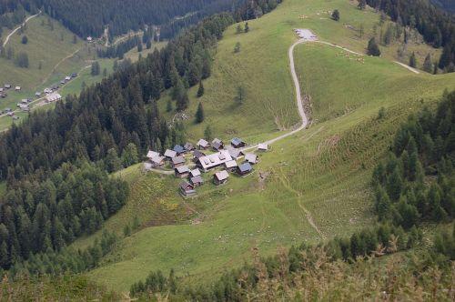 alm,kotedžai,austria,vasara,kraštovaizdis
